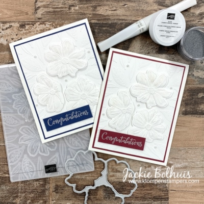 White On White Handmade Cards! The WOW Look Of Dies + Embossing Folders