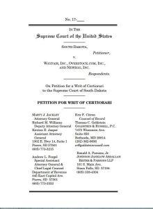 South Dakota Petition