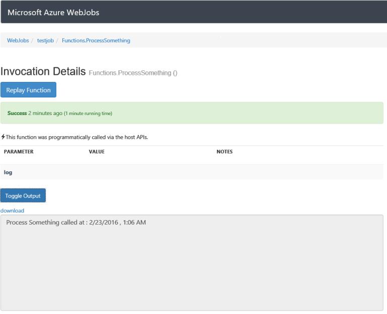 Azure WebJob logs demystified - Kloud Blog