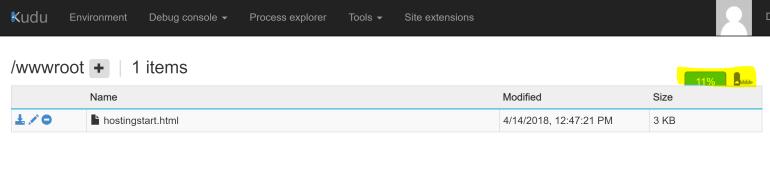 Drop WebApp ZipFile Export via Kudu