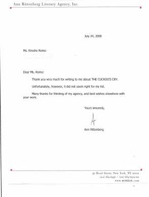 First Rejection Letter