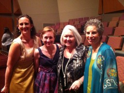 Sarah (roomie) and me with Margo Garett and Vickie Kirsch