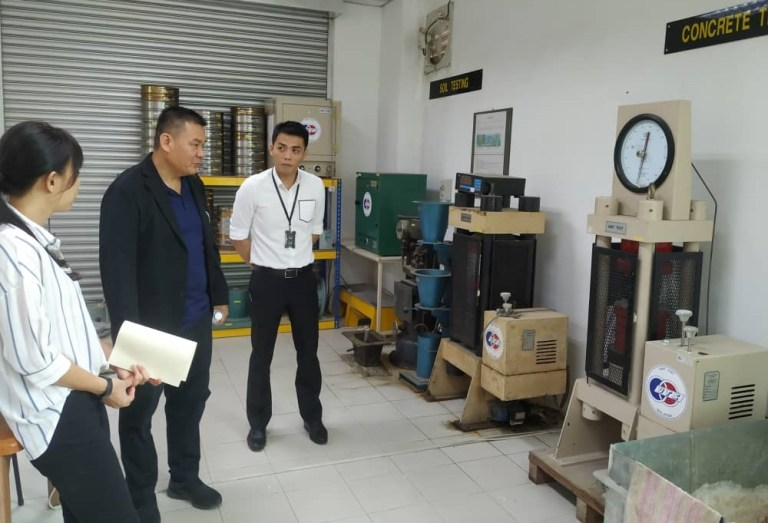 Ir. Sia conducted the inspection on the labs' equipment