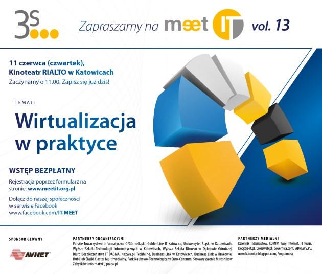 Zaproszenie na MeetIT vol. 13 w Katowicach