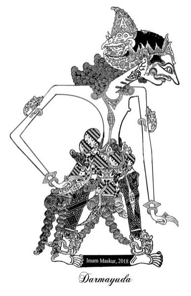 Pada dasarnya dewi kunti memiliki 6 anak, namun tidak mengikuti sang ibu karena ikut berpartisipasi membela kurawa dalam perang bharatayuda. Wayang Kurawa 100