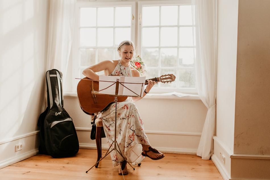 Musikalische Begeleitung während der standesamtlichen Trauung im Schloss Glücksburg