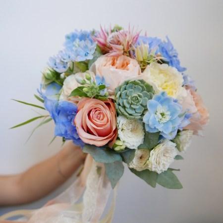 Букет невесты с эхеверией