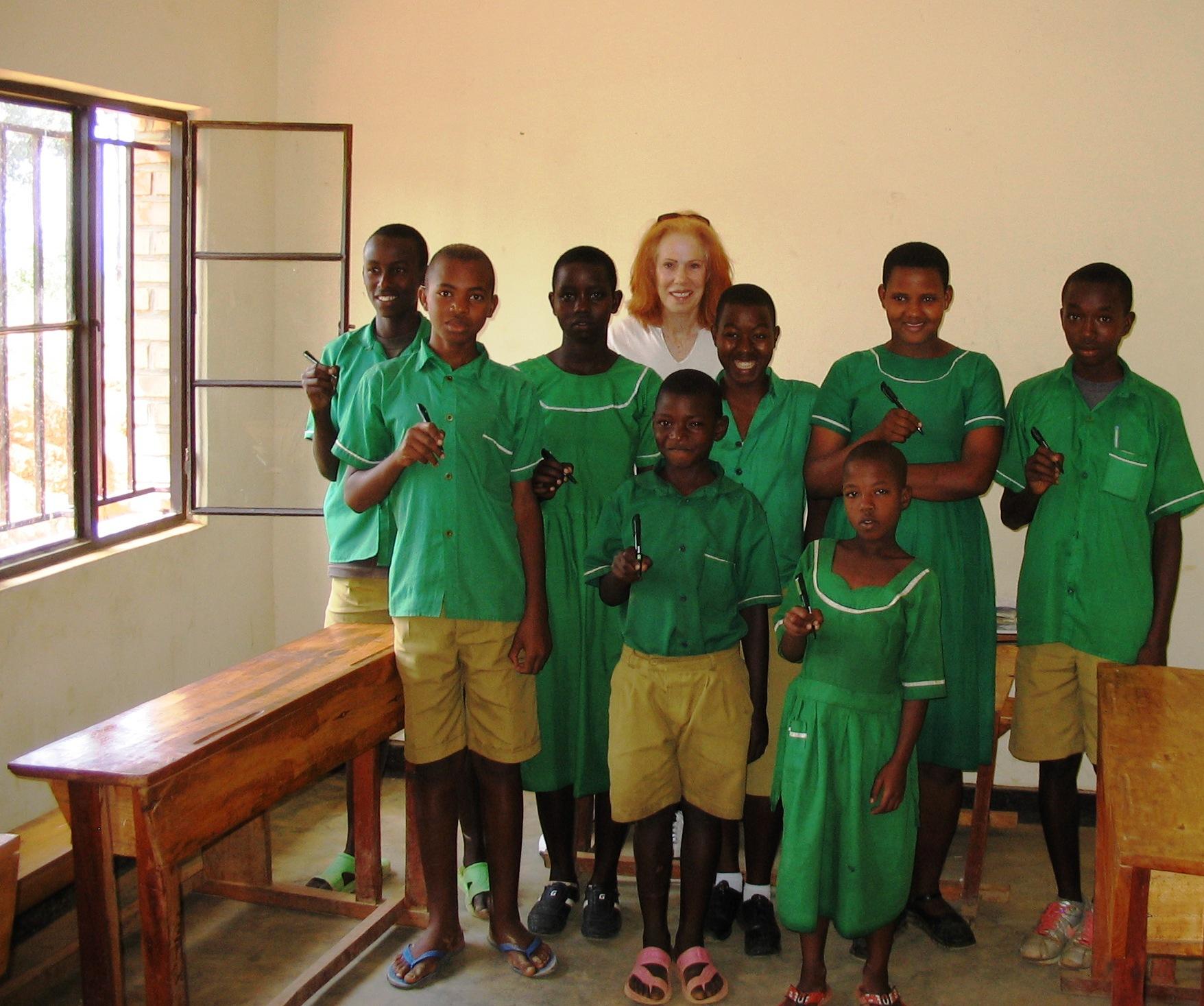pen distribution at Rwimyaga Secondary School 2