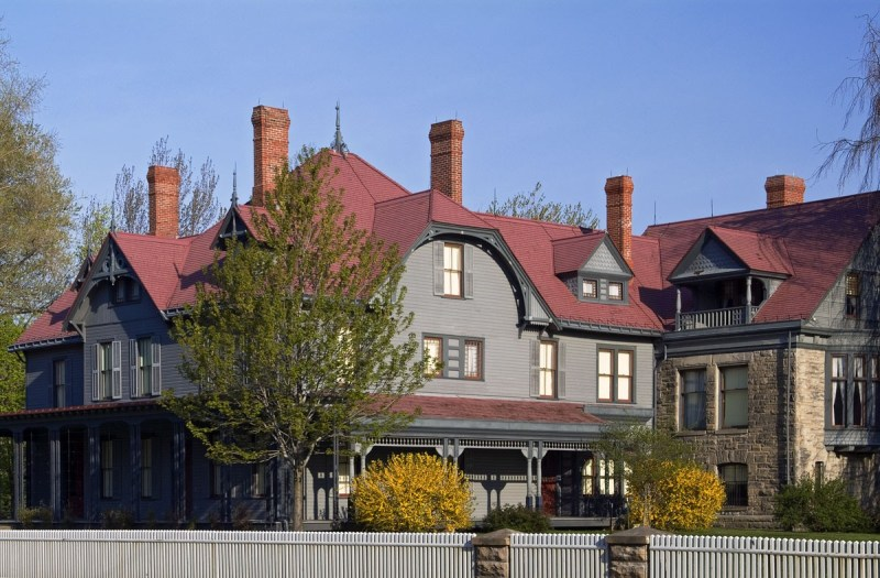 It's autumn at James A. Garfield's house in Mentor, Ohio