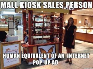 Mall Kiosk Salesperson Meme