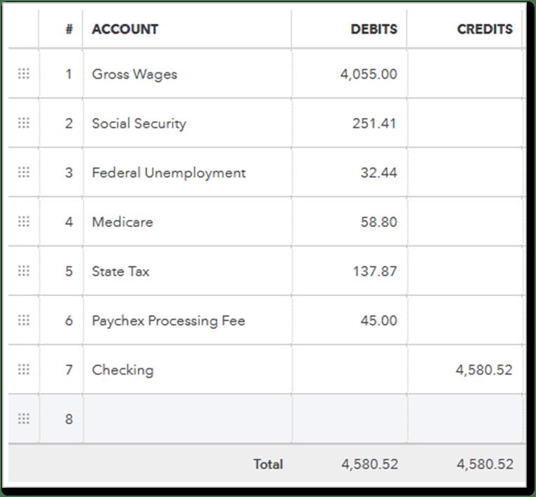 Record Payroll Transactions Manually