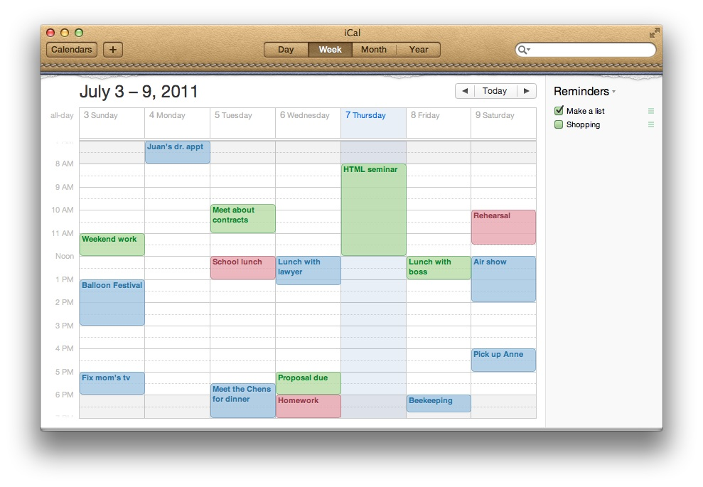 Apple iCal