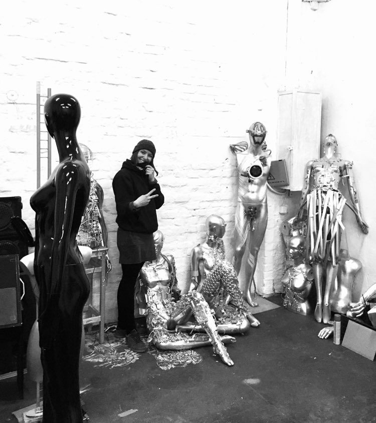 Dominika and her hand-made humanoids