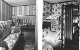 Passenger cabin on the LZ 127 Graf Zeppelin.