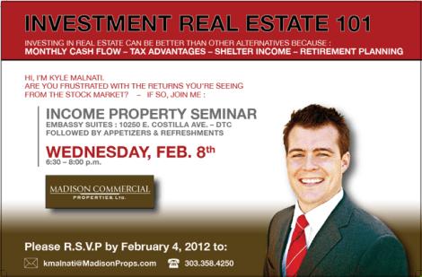 Kyle Malnati's Investment Real Estate Seminar in Denver