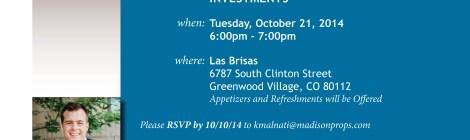 Kyle Malnati Multifamily Seminar Invitation 10/21/2014