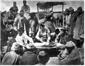 Кыргыздарды келгиндерге берилчү жерлердин планы менен тааныштырууда