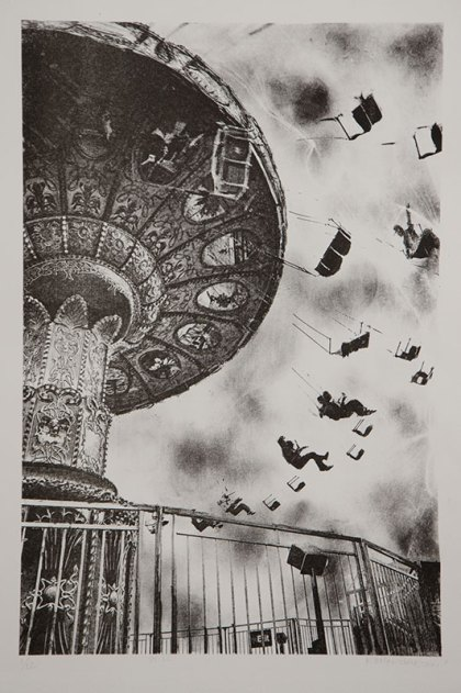 "The Great Whirled Spins - State II , 14x19.5"" lithograph"