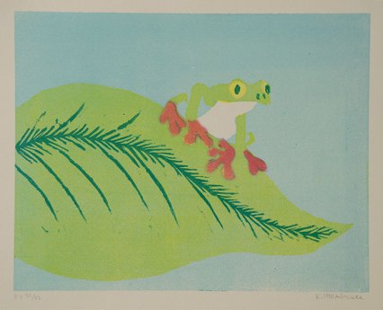 Tree Frog, Green - Relief multiblock, 2011
