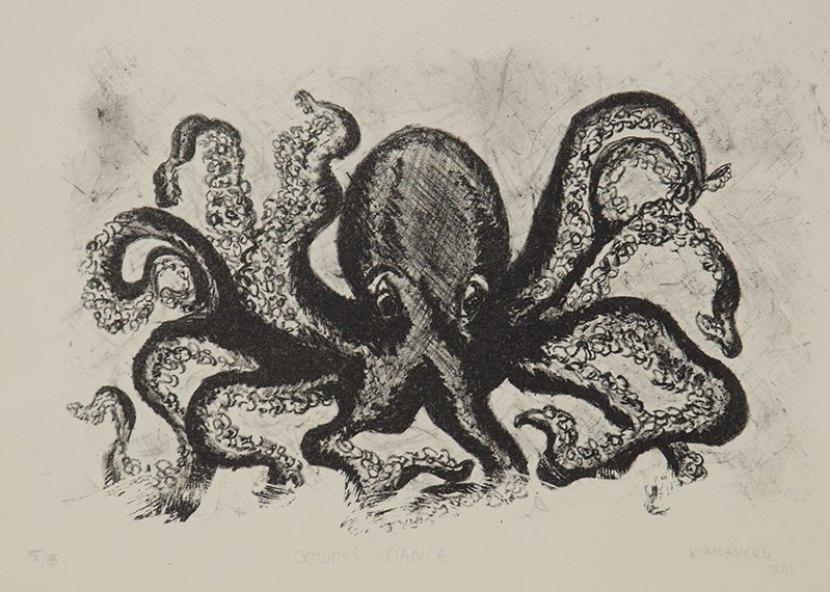 Octopus Dance - Lithograph, 2011