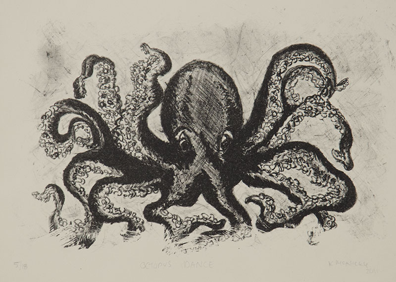 Octopus Dance - Lithograph, 2011