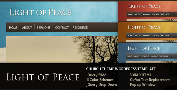 Tema WordPress Light of Peace