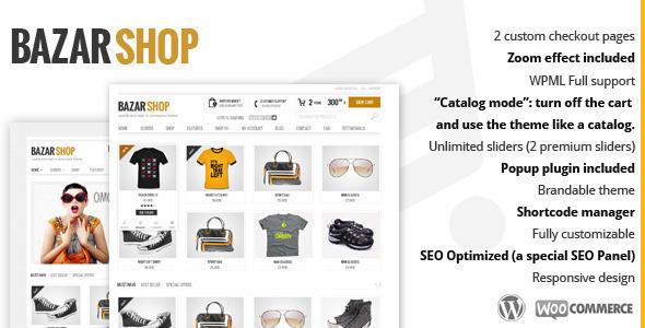 Tema WordPress Bazar Shop