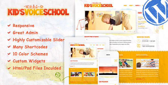 Tema WordPress Kids Voice School