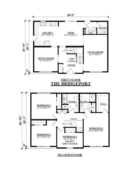 Two Story Floor Plans