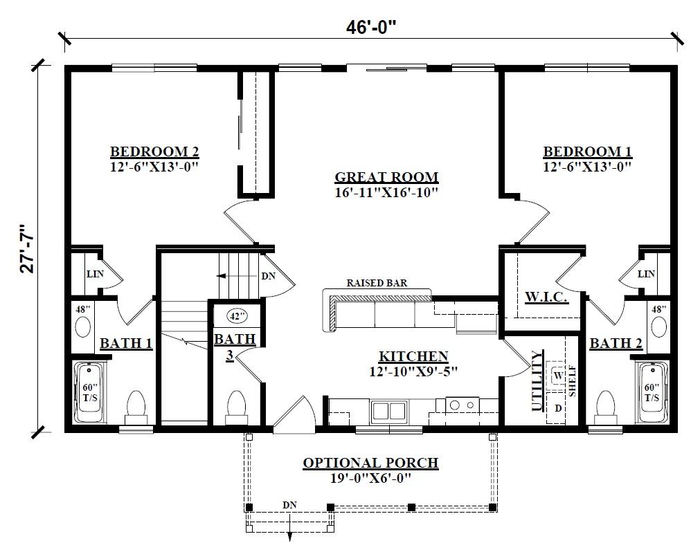 Log Cabin Floor Plans - Kintner Modular Homes