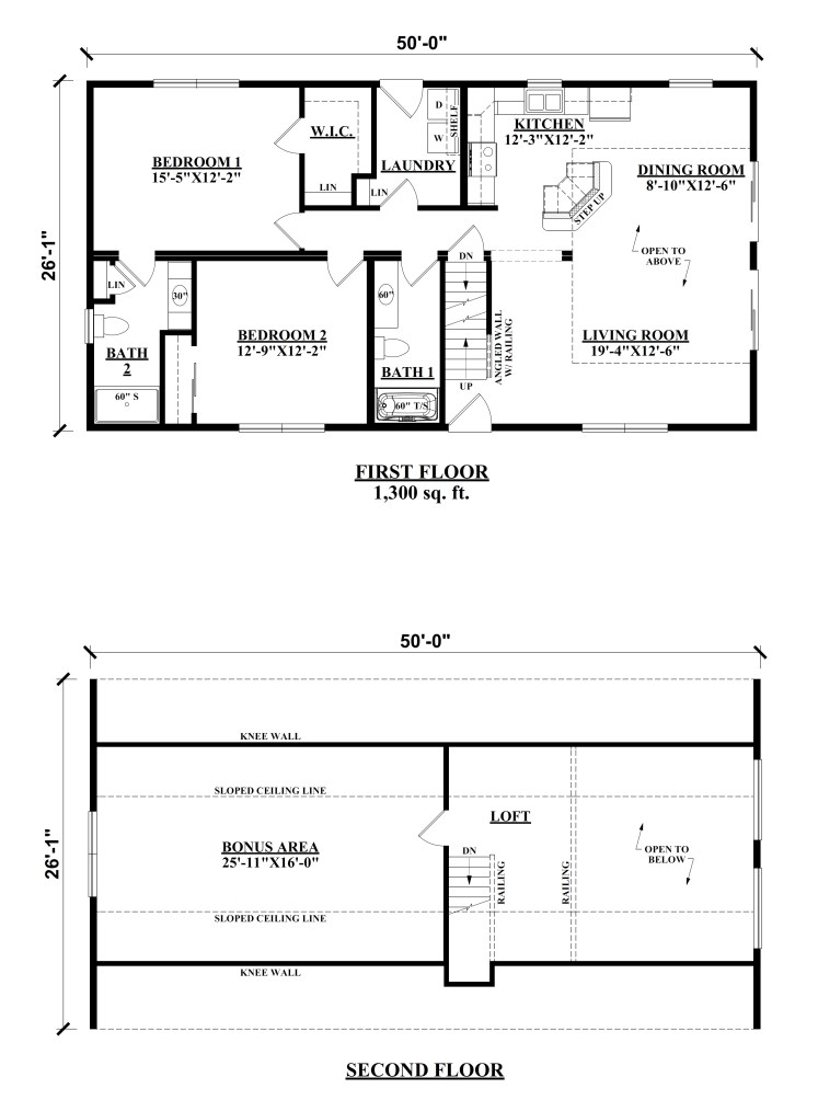 Chalet Modular Floor Plans