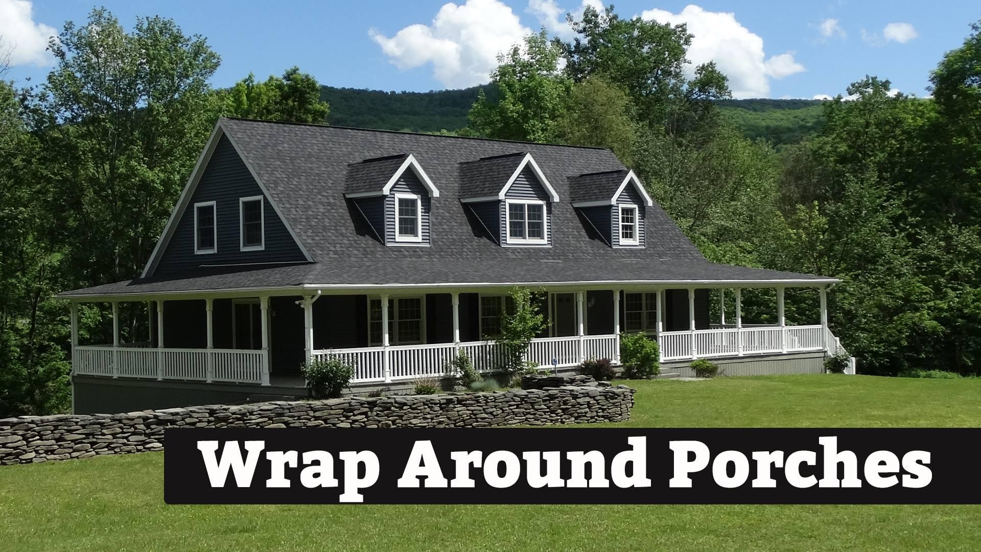 Beautiful Wrap Around Porch   Kintner Modular Homes