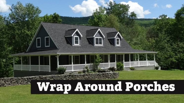 We design beautiful Wrap Around Porches