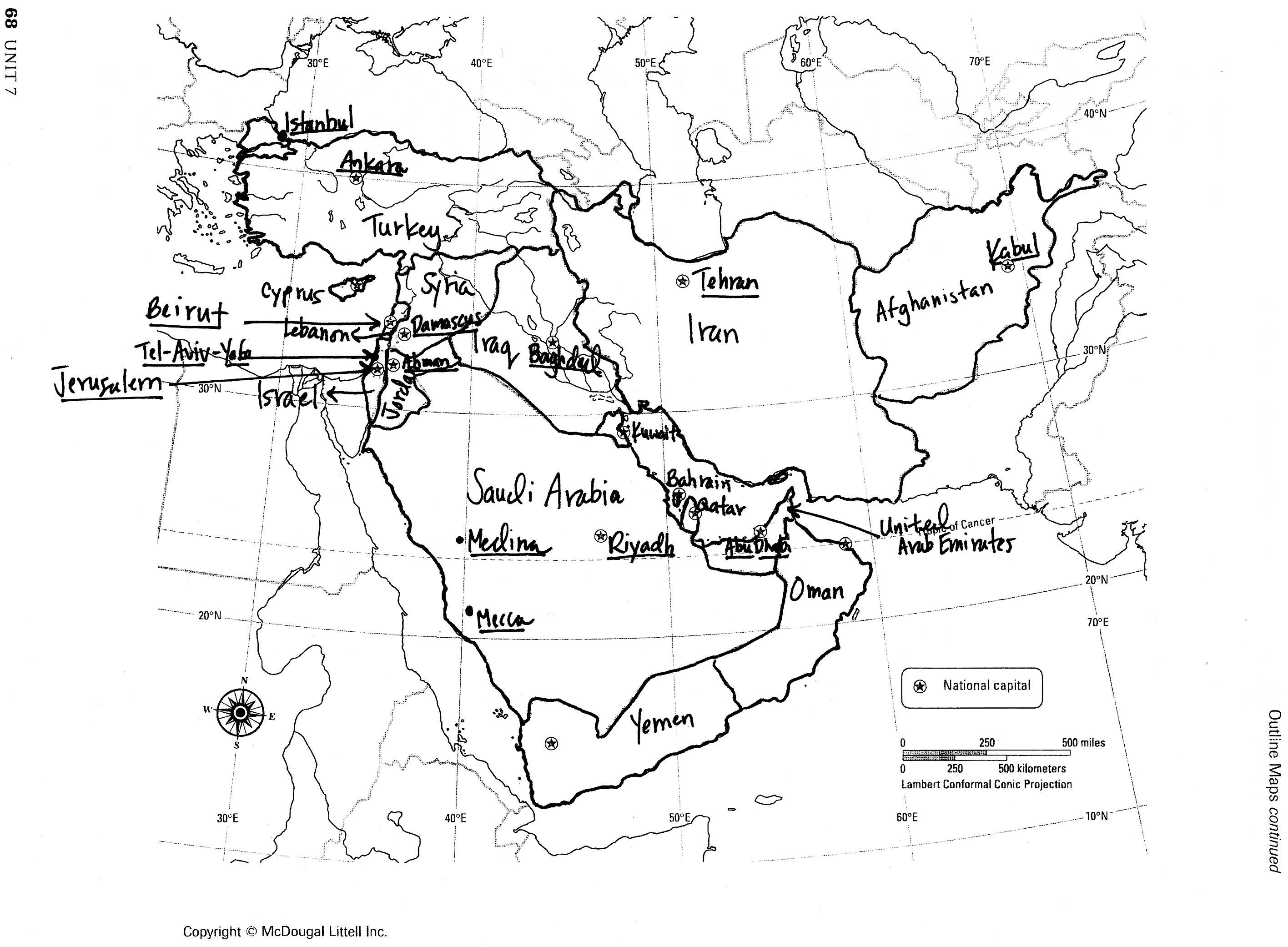 Southwestern Asia Map Quiz