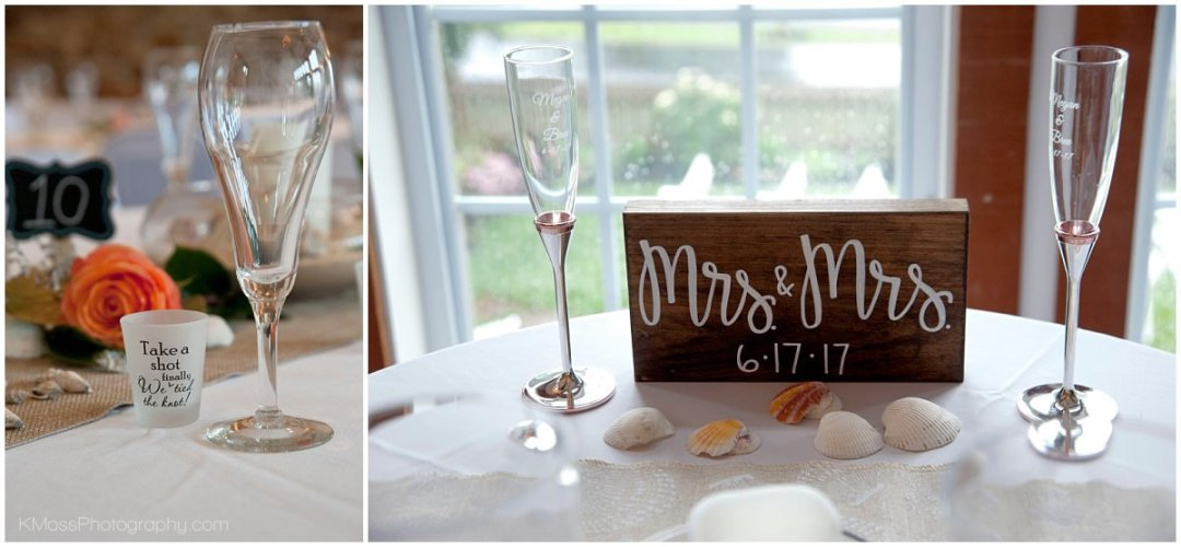 The Barn at Flying Hills Beach Theme Wedding Reception| K. Moss Photography