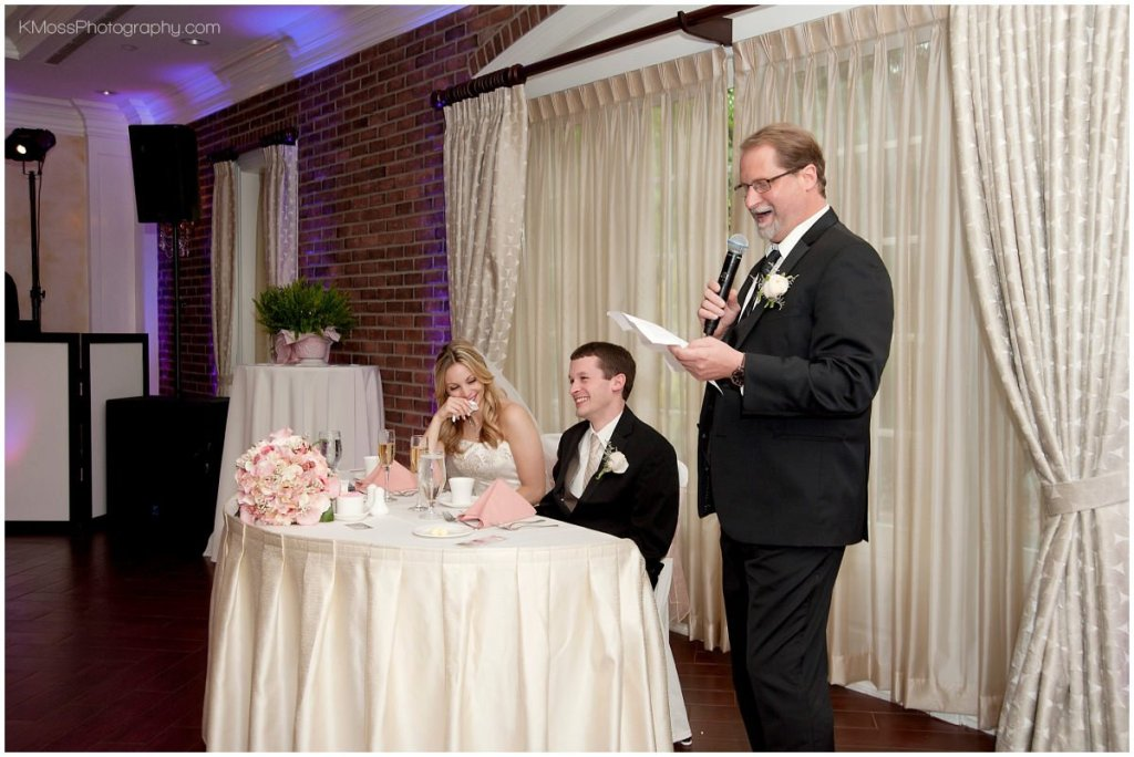 Lehigh Valley wedding toast & speeches  K. Moss Photography