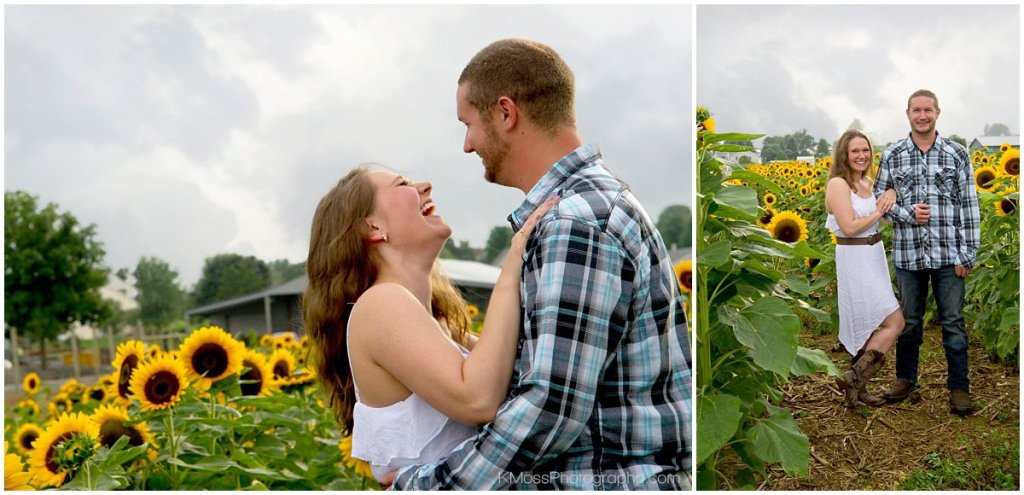 Lehigh Valley Sunflower Engagement Session   K. Moss Photography