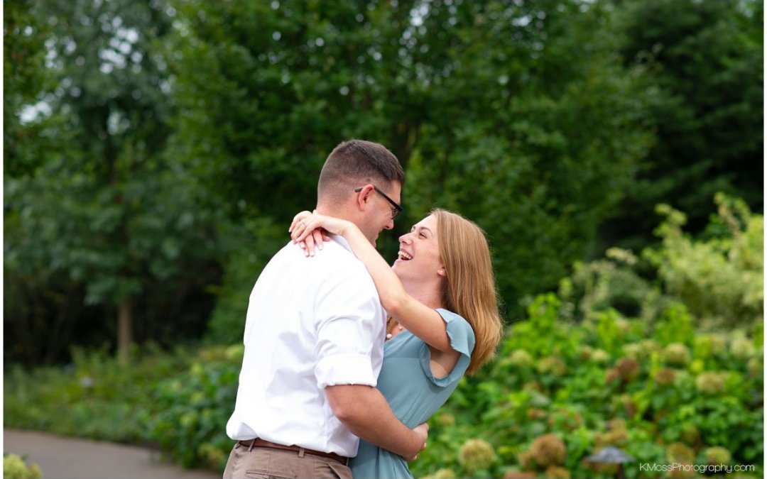 Penn State Arboretum Engagement Session | Kathryn & Brian