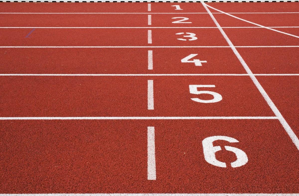 athletic field, ground, lane