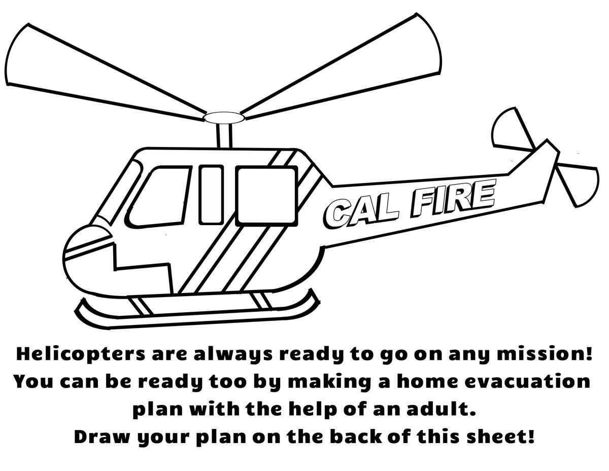 Cal Fire Releases Coloring Pages For National Coloring
