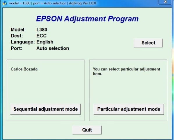 Epson L380 Service Required