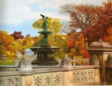 Anthony Galati New York Central Park Fountain Print