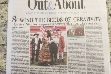 Feature story on Farmstead Arts in Oct 23, 2014 Out and About