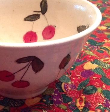 Cherry Bowl by Studio Artist Laurine Gilbert
