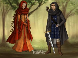 Firra and Donaigh Fanart by Cora