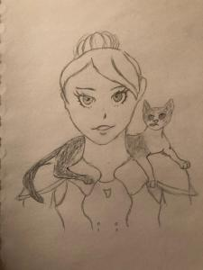 Gabbi and Puss and Boots by Hobbitlady97