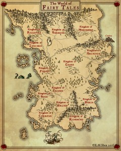 Fairy Tale World Map