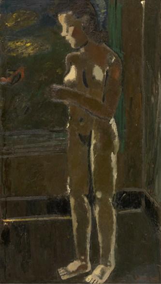 Gustave De Smet, Staand naakt, 1935, © KMSKA / Lukas-Art in Flanders vzw – foto Hugo Maertens, Aanvullende rechten: Sabam