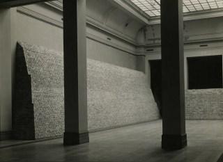 Beveiligingswerken 1943: muurversterking aan de benedenzalen - Archief KMSKA