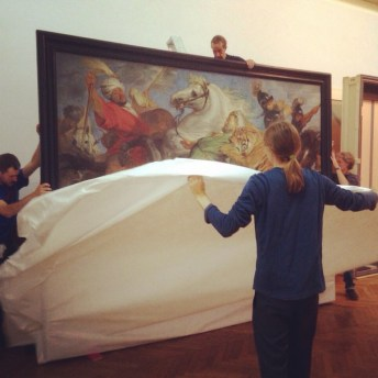 Vrijdag 12/9: 'De Tijgerjacht' krijgt een plaats aan de muur.